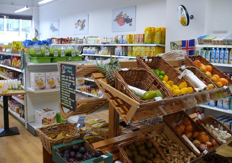 Obst und Gemüse im Laden